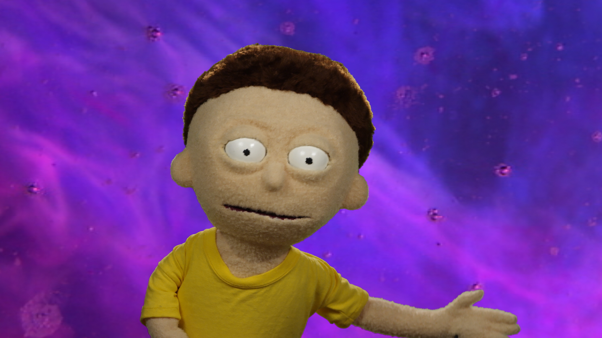 Morty Smith puppet from the Rick and Morty Blu-ray commercial shot and edited by Todd Bishop