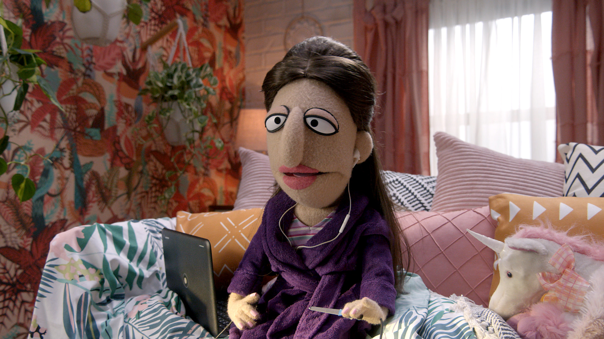 Sarah Silverman as a puppet on Comedy Central's Crank Yankers