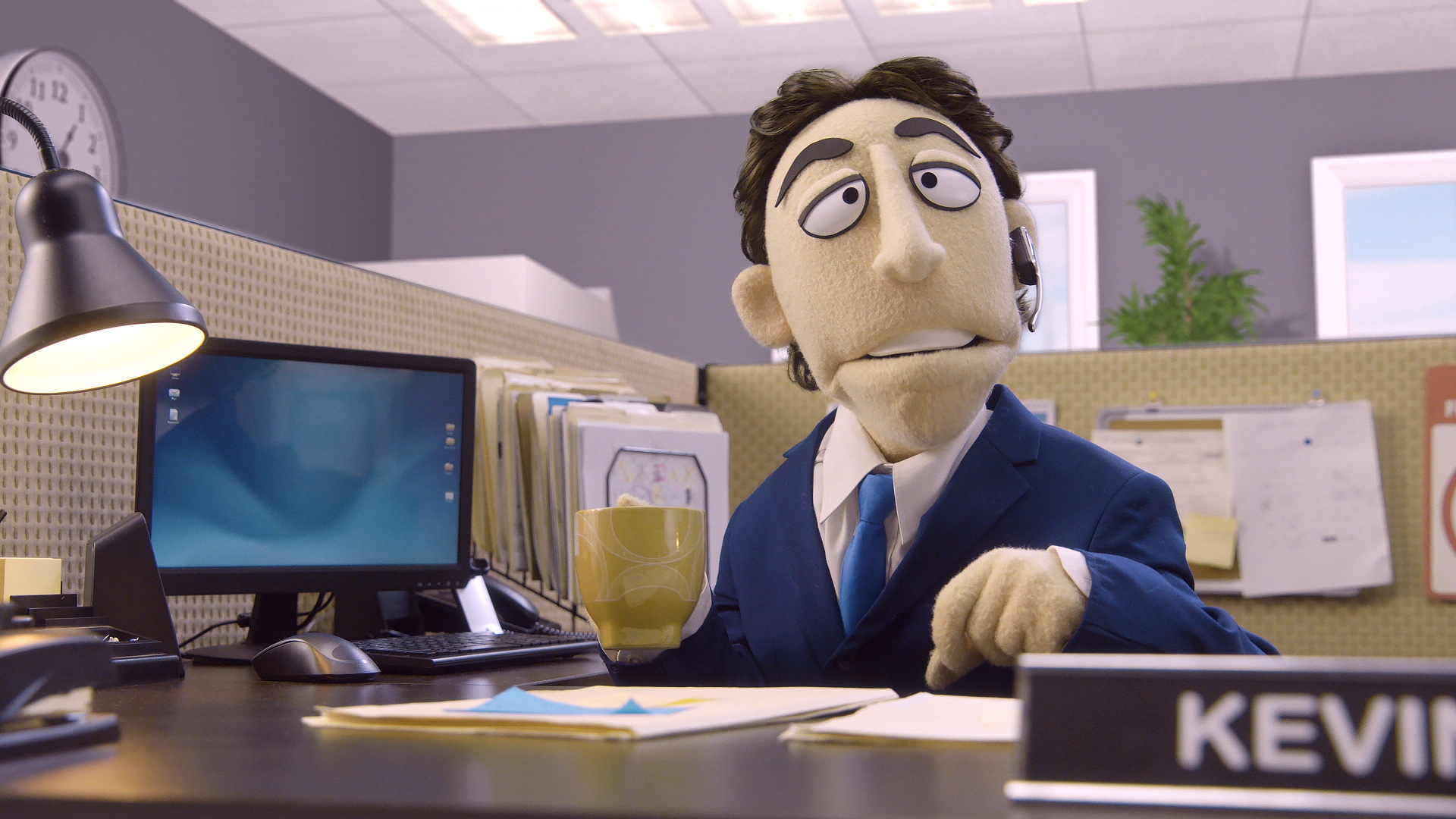 Kevin Nealon complains about his office mate Randall on Comedy Central's Crank Yankers