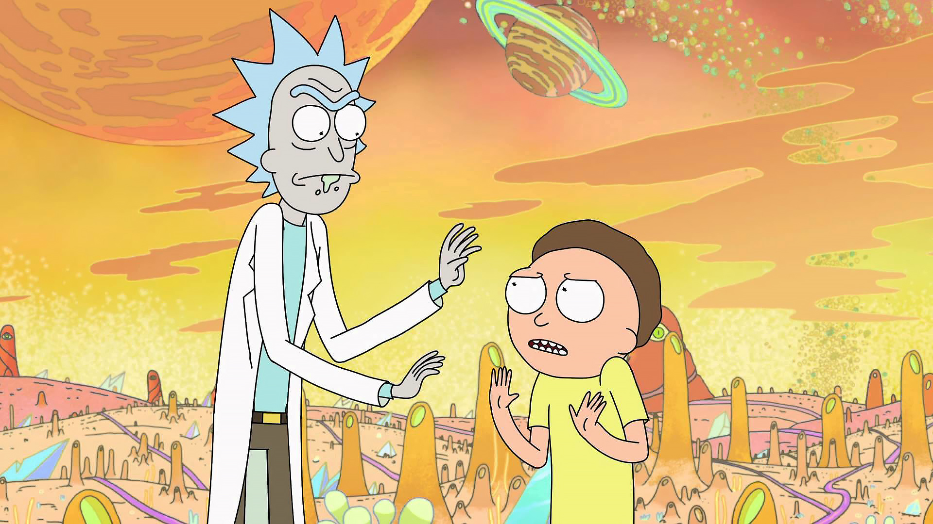 Still from Adult Swim's Rick and Morty from toddbishop.co